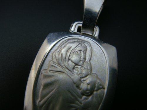 他の写真1: (ギリシャアクセサリー)イエス・キリストを抱く聖母マリアのシルバー925ペンダントトップ