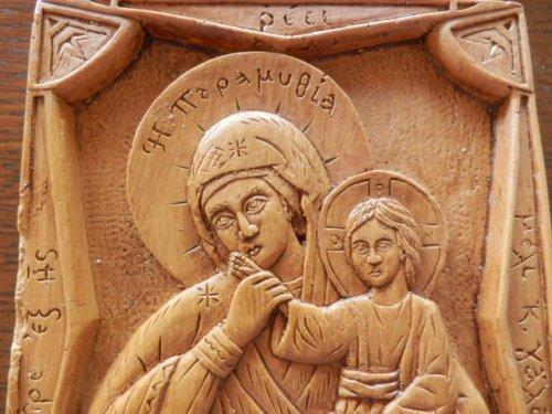 他の写真1: 【送料無料】(ギリシャ雑貨)絵で描かれた聖書・イコン(聖母マリアとイエス・キリスト)【ギリシャ正教の聖地アトス山】