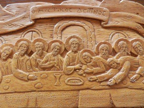 他の写真1: 【送料無料】(ギリシャ雑貨)絵で描かれた聖書・イコン(最後の晩餐)【ギリシャ正教の聖地アトス山】