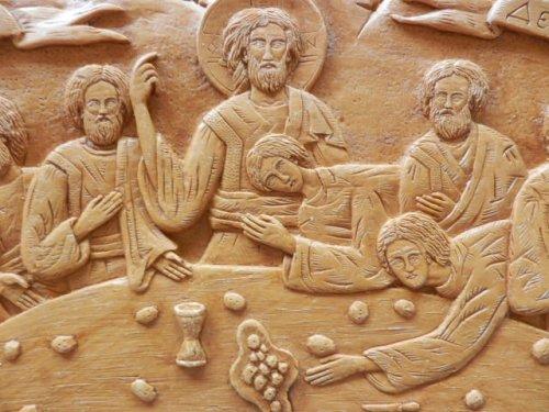 他の写真1: 【送料無料】(ギリシャ雑貨)絵で描かれた聖書・イコン(最後の晩餐・大)【ギリシャ正教の聖地アトス山】