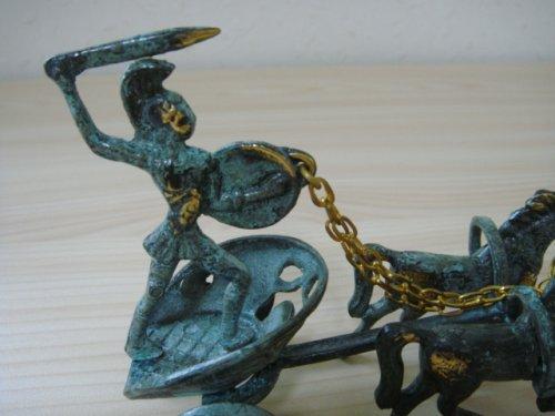 他の写真1: 【送料無料】(ギリシャ雑貨)アキレウスの馬車の置物(ブロンズ像)【ギリシャ神話】