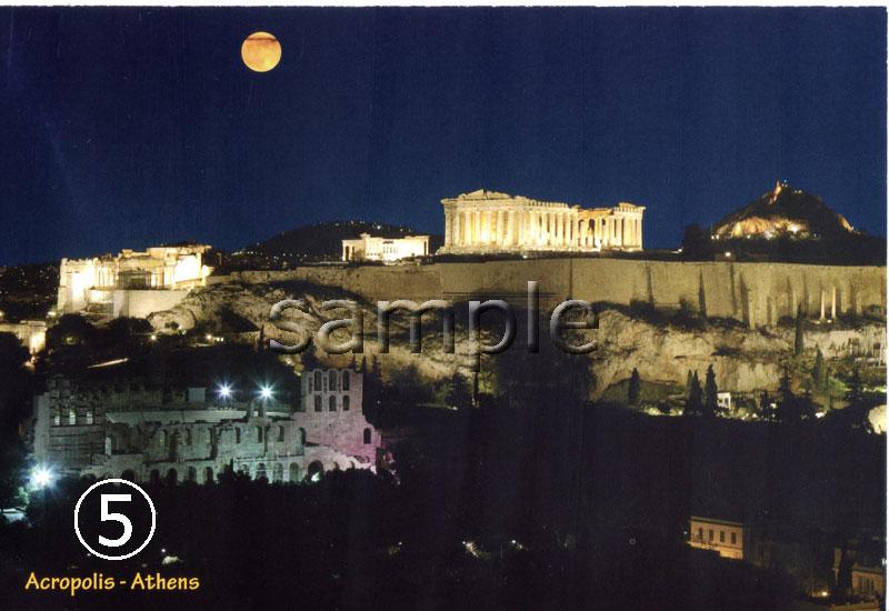 (ギリシャ雑貨)ギリシャフォト『アテネ パナシナイコ競技場』ポストカード(絵はがき)6枚セット                                    [pc4]