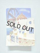 【SOLD OUT ありがとうございました!】\ラスト1つです!/【お客様の声あり♪】(ギリシャ雑貨)エーゲ海からの風を受ける風車・マグネット付き立体画【ハンドペイント♪】