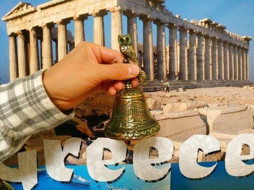 他の写真3: 【お客様の声あり♪】【ギリシャ神話】(ギリシャ雑貨)ふくろうとパルテノン神殿のベル【知恵の象徴ふくろう】