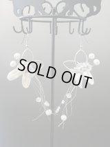 【SOLD OUT ありがとうございました!】\ラスト1点です!/【お客様の声あり♪】【ギリシャ神話】(ギリシャアクセサリー)バタフライ・スワロフスキークリスタル・白蝶貝ロングピアス