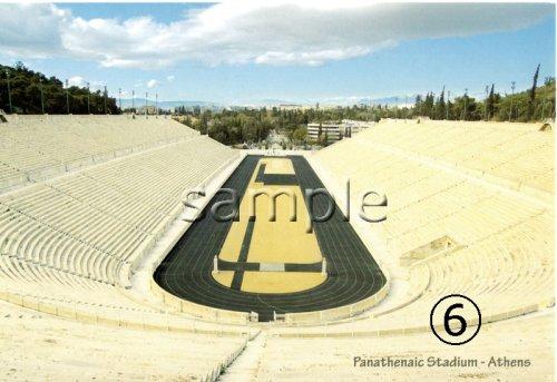他の写真1: (ギリシャ雑貨)ギリシャフォト『アテネ パナシナイコ競技場』ポストカード(絵はがき)6枚セット