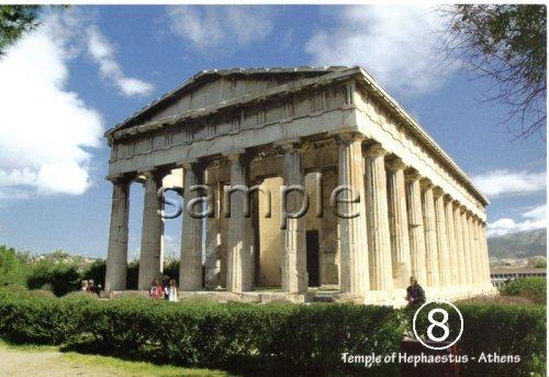他の写真1: 【ギリシャ神話】(ギリシャ雑貨)ギリシャの風景『ヘファイストス神殿』ポストカード(絵はがき)8枚セット